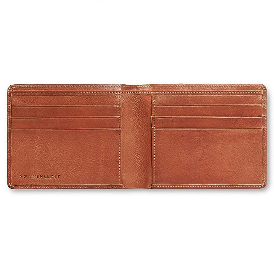 "Sonnenleder ""Ems"" Vegetable Tanned Leather Wallet with 6 CC Slots Leather Wallet Sonnenleder Natural"