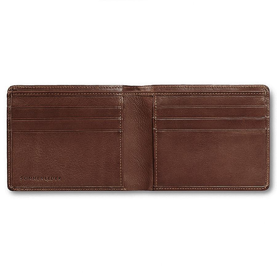 "Sonnenleder ""Ems"" Vegetable Tanned Leather Wallet with 6 CC Slots Leather Wallet Sonnenleder Mocha Brown"