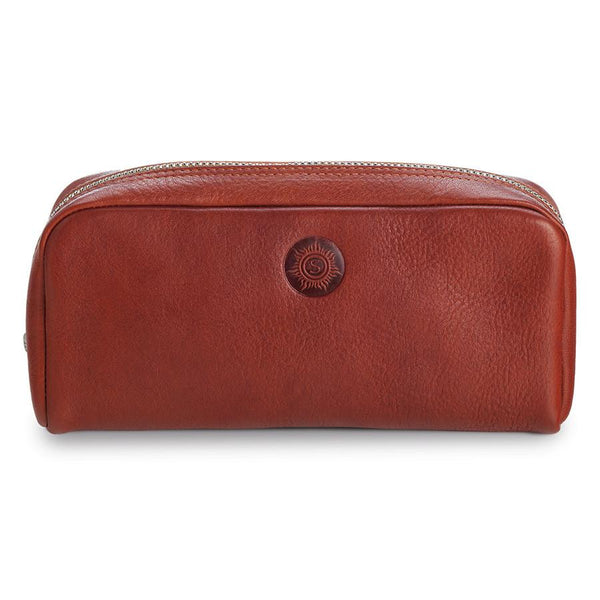 "Sonnenleder ""Faschina"" Vegetable Tanned Leather Toiletry Bag, Natural - Fendrihan Canada - 1"