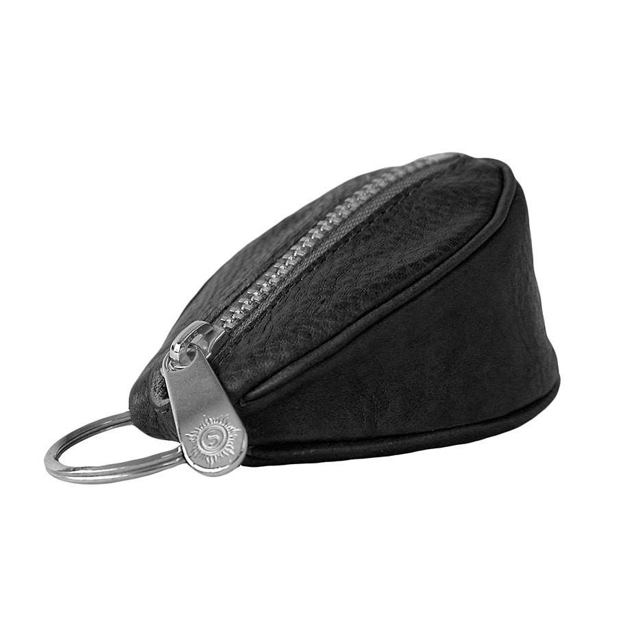 "Sonnenleder ""Puccini"" Naturally Tanned Leather Key Fob Key Case Sonnenleder Black"