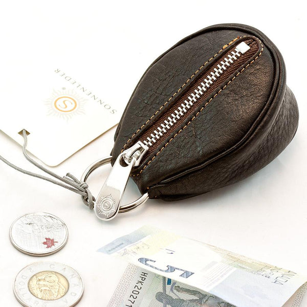 "Sonnenleder ""Puccini"" Naturally Tanned Leather Key Fob, Mocha Brown - Fendrihan Canada - 2"