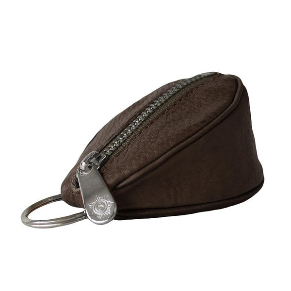 "Sonnenleder ""Puccini"" Naturally Tanned Leather Key Fob, Mocha Brown - Fendrihan Canada - 1"
