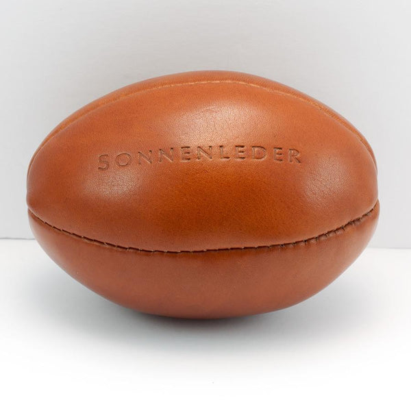 Sonnenleder Vegetable Tanned Leather Mini Rugby Ball, Natural - Fendrihan Canada - 2