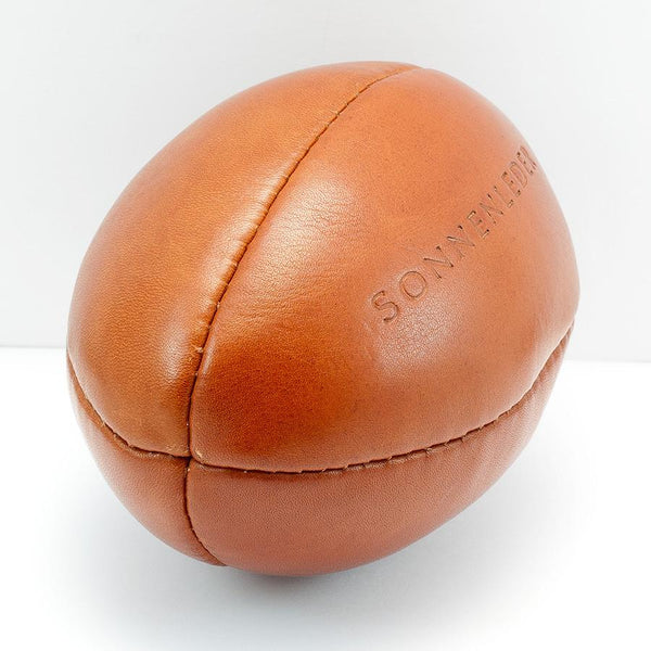 Sonnenleder Vegetable Tanned Leather Mini Rugby Ball, Natural - Fendrihan Canada - 3