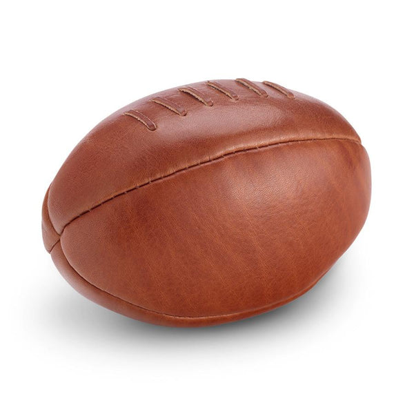 Sonnenleder Vegetable Tanned Leather Mini Rugby Ball, Natural - Fendrihan Canada - 1