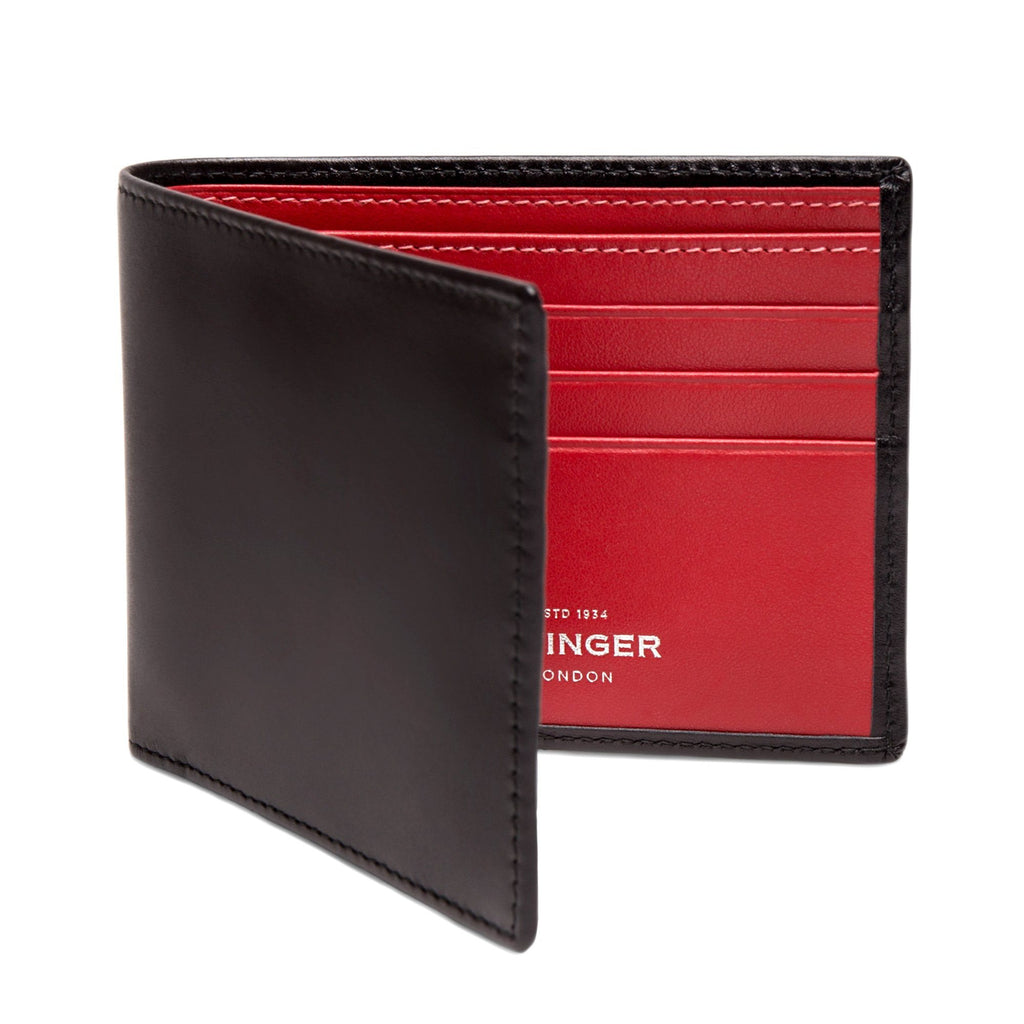 Ettinger Sterling Billfold Leather Wallet with 6 CC Slots Leather Wallet Ettinger Red