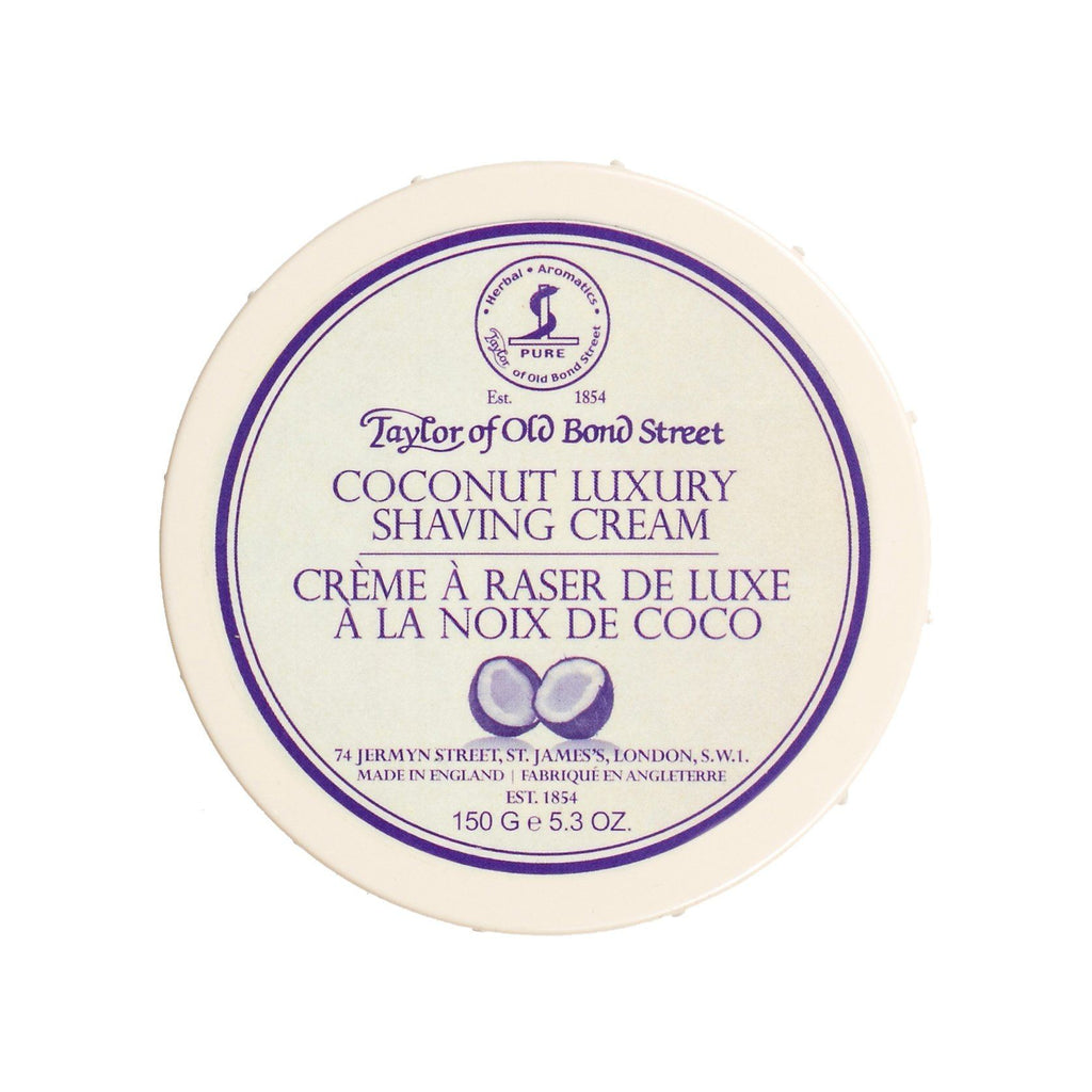 Taylor of Old Bond Street Shaving Cream Bowl, Coconut Shaving Cream Taylor of Old Bond Street
