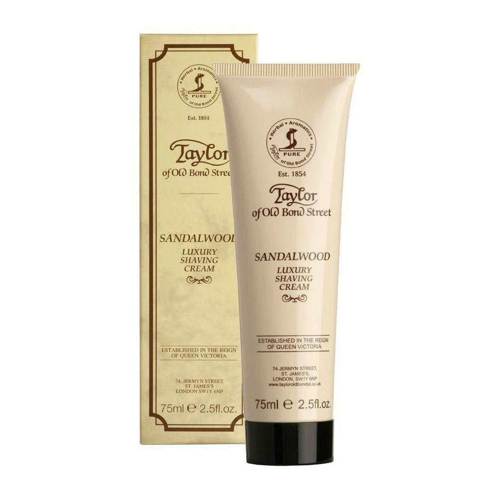 Taylor of Old Bond Street Classic Shaving Cream Travel Tube, Sandalwood Shaving Cream Taylor of Old Bond Street