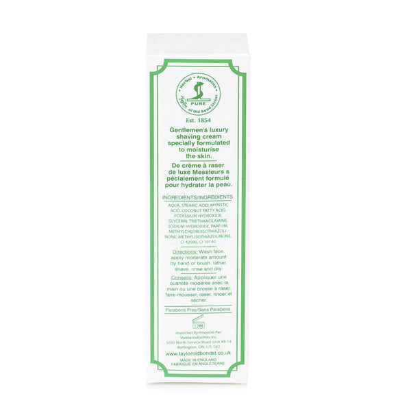 Taylor of Old Bond Street Classic Shaving Cream Travel Tube, Lemon and Lime - Fendrihan Canada - 3