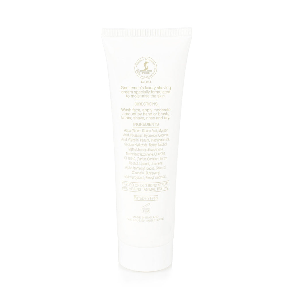 Taylor of Old Bond Street Classic Shaving Cream Travel Tube, Avocado Shaving Cream Taylor of Old Bond Street