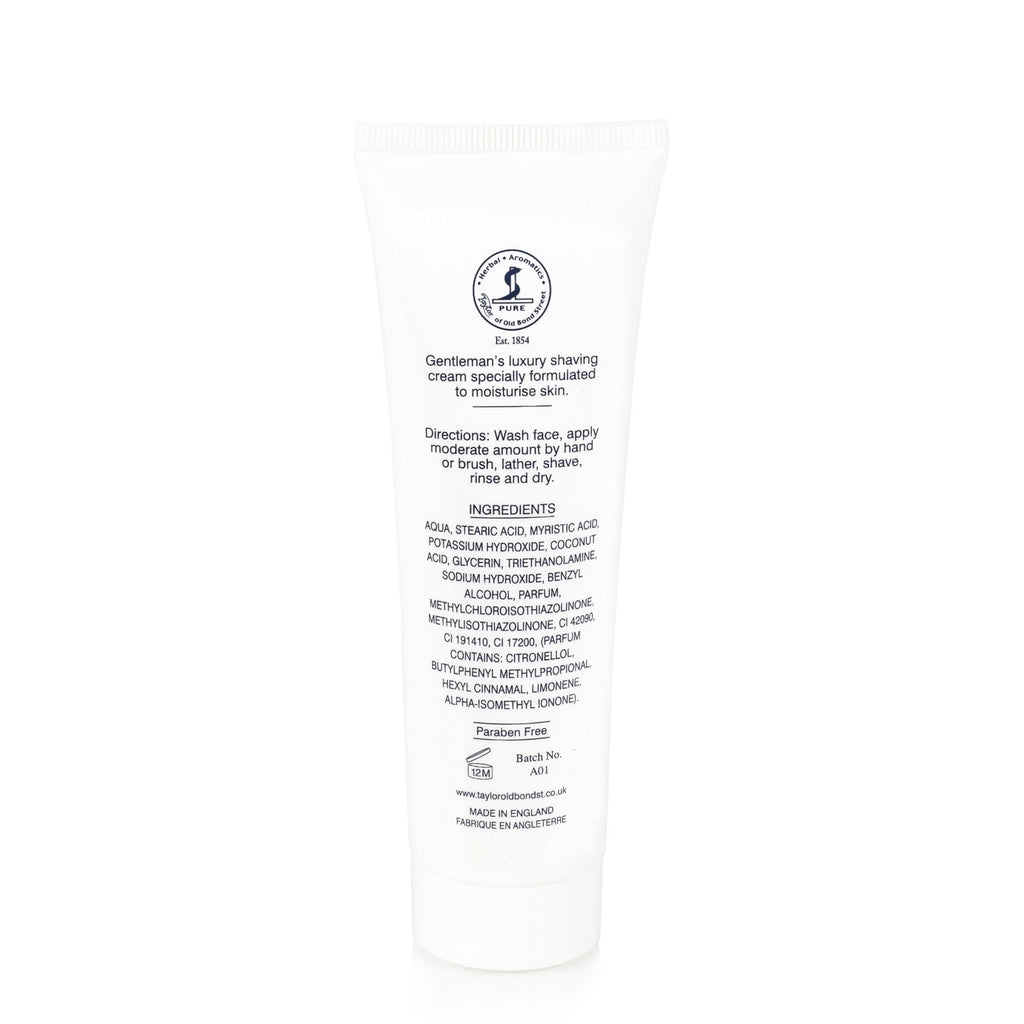 Taylor of Old Bond Street Classic Shaving Cream Travel Tube, Mr Taylors - Fendrihan Canada - 5
