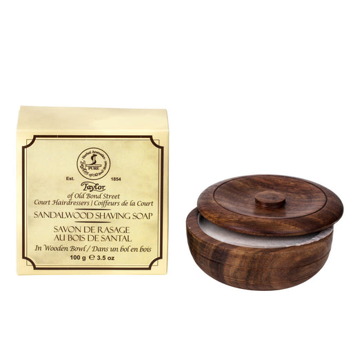Taylor of Old Bond Street Sandalwood Shaving Soap in Wooden Bowl