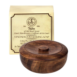 Taylor of Old Bond Street Sandalwood Shaving Soap in Wooden Bowl Shaving Soap Taylor of Old Bond Street