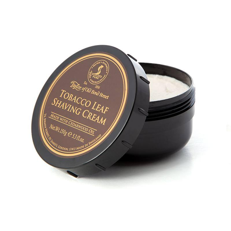 Taylor of Old Bond Street Shaving Cream Bowl, Tobacco Leaf Shaving Cream Taylor of Old Bond Street