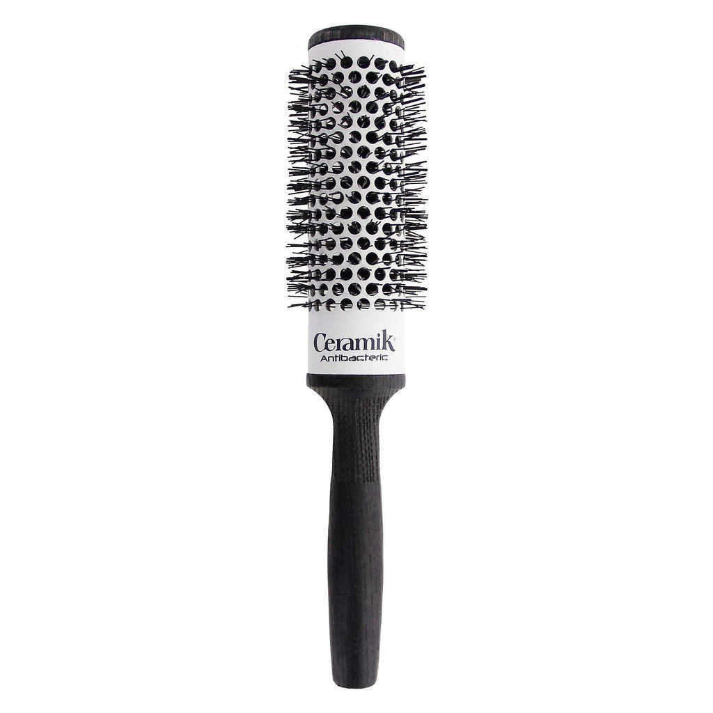 TEK Professional Antibacteric Ceramik Brush, Black Ash Wood Hair Brush TEK