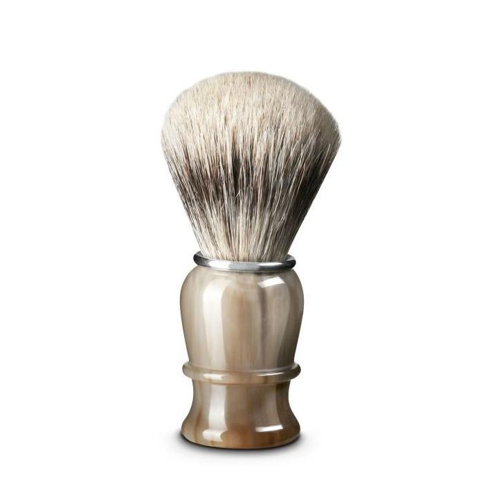 Thiers Issard Super Badger Shaving Brush, Blonde Horn Handle