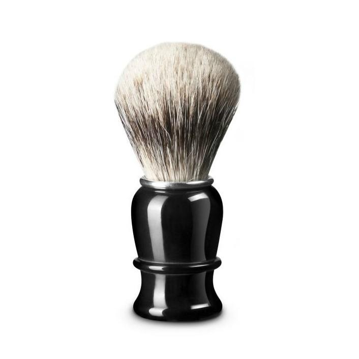 Thiers Issard Super Badger Shaving Brush, Black Horn Handle
