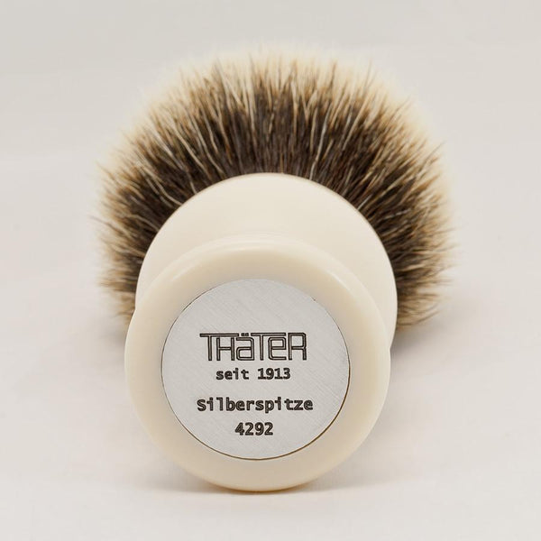 H.L. Thater 4292 Series 2-Band Silvertip Shaving Brush with Faux Ivory Handle, Size 6 - Fendrihan Canada - 2