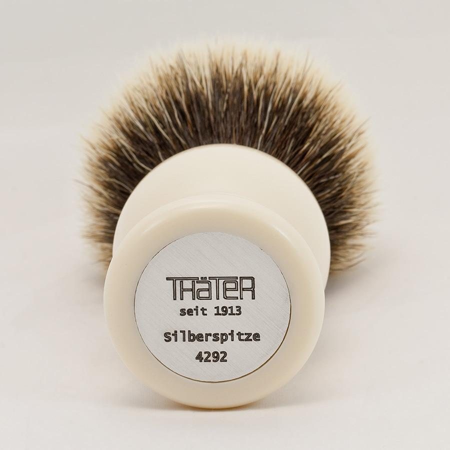H.L. Thater 4292 Series 2-Band Silvertip Shaving Brush with Faux Ivory Handle, Size 5 - Fendrihan Canada - 2