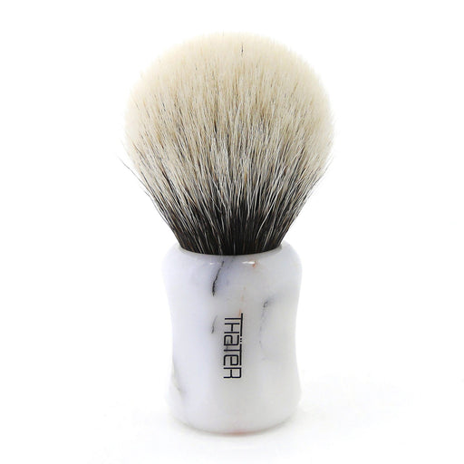H.L. Thater 4125 Limited Edition 2-Band Premium Bulb Silvertip Shaving Brush, Size 2