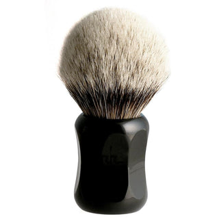 H.L. Thater 4125 Series Silvertip Shaving Brush with Black Handle, Size 5 Badger Bristles Shaving Brush Heinrich L. Thater