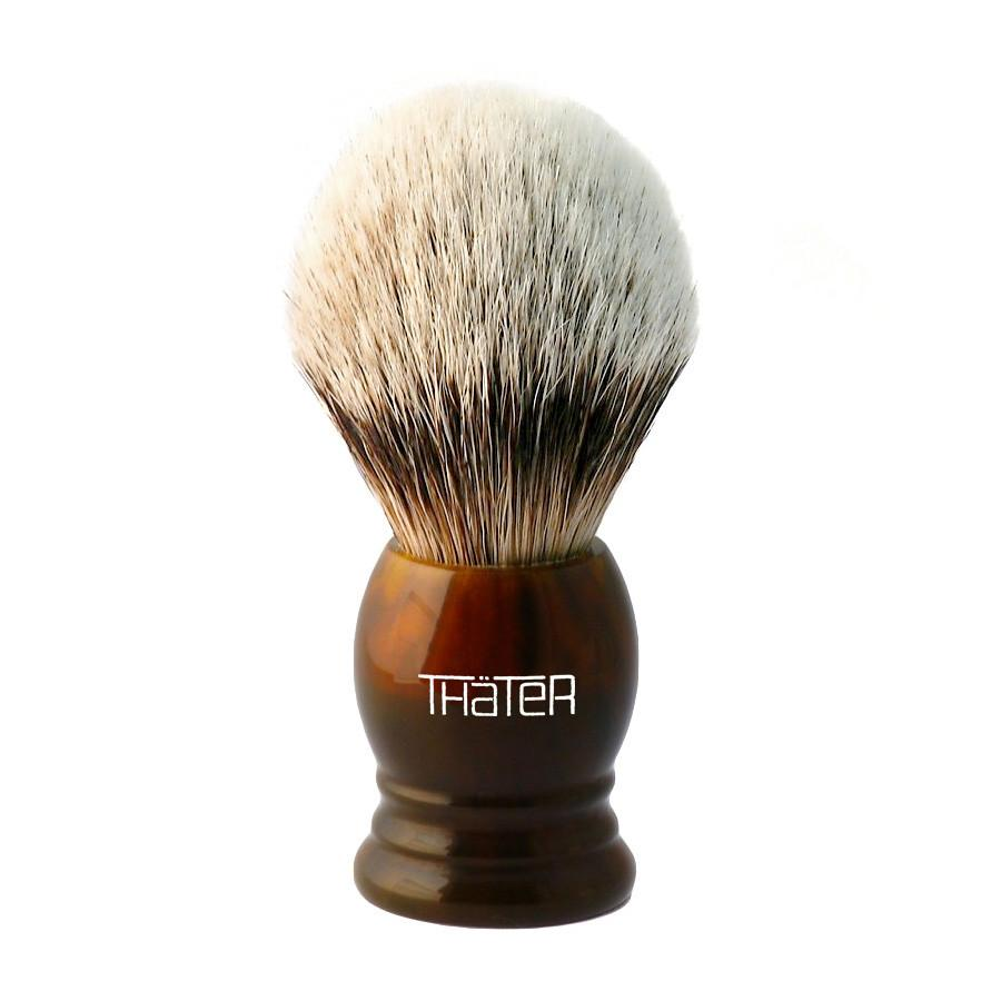 H.L. Thater 4292 Series Silvertip Shaving Brush with Faux Tortoise Handle, Size 1 Badger Bristles Shaving Brush Heinrich L. Thater