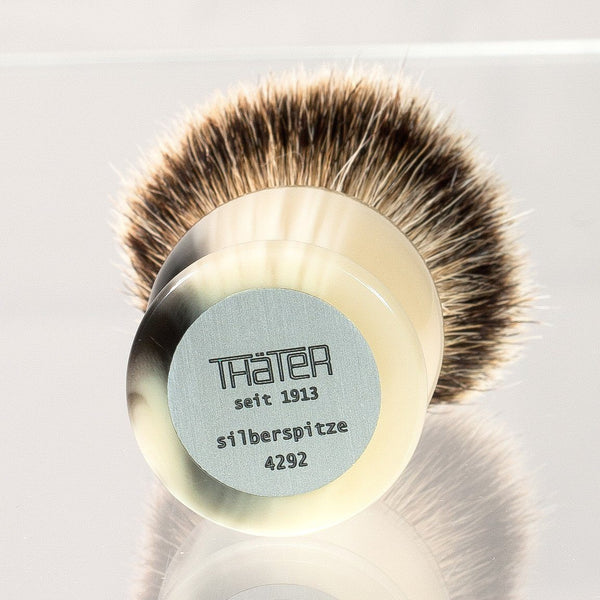 H.L. Thater 4292 Series Silvertip Shaving Brush with Faux Horn Handle, Size 4 - Fendrihan Canada - 2