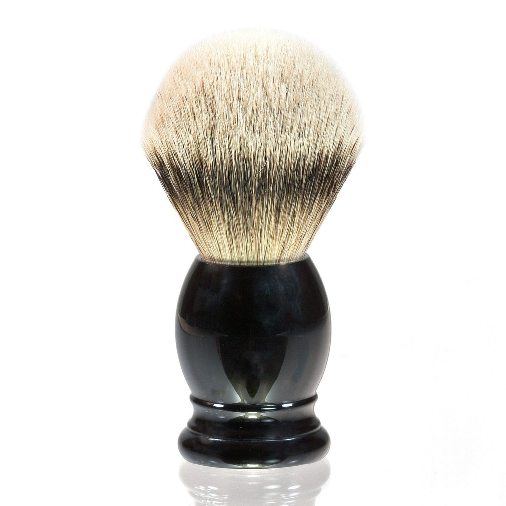 H.L. Thater 4292 Series Silvertip Shaving Brush with Black Handle, Size 6 Badger Bristles Shaving Brush Heinrich L. Thater