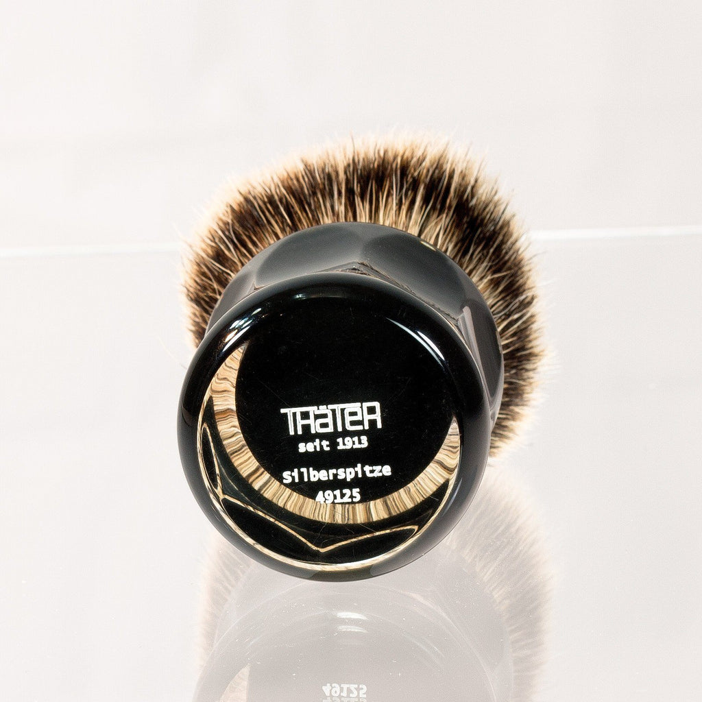 H.L. Thater 49125 Series Silvertip Shaving Brush with Two-Tone Handle, Size 4 Badger Bristles Shaving Brush Heinrich L. Thater