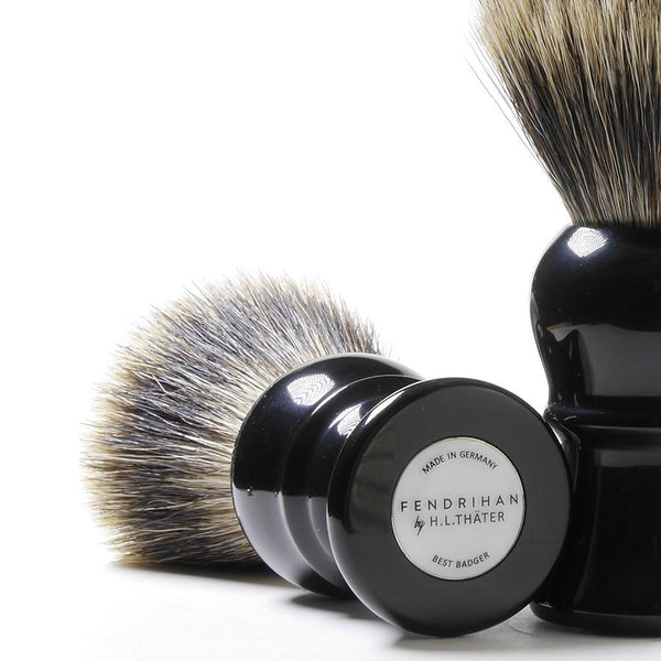 H.L. Thater for Fendrihan Best Badger Shaving Brush with Black Handle, Size 4 - Fendrihan Canada - 2