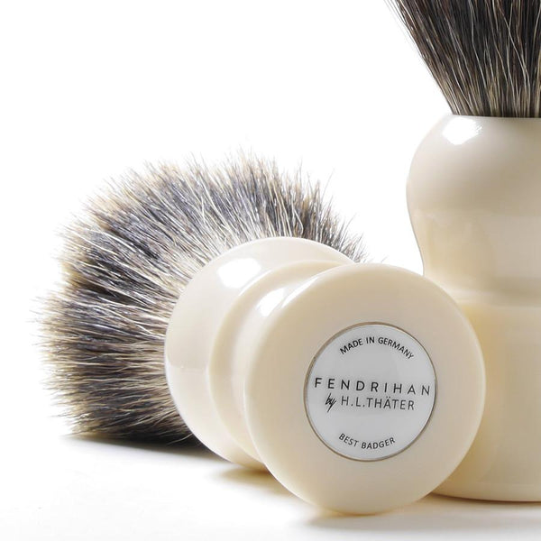 H.L. Thater for Fendrihan Best Badger Shaving Brush with Faux Ivory Handle, Size 4 - Fendrihan Canada - 2