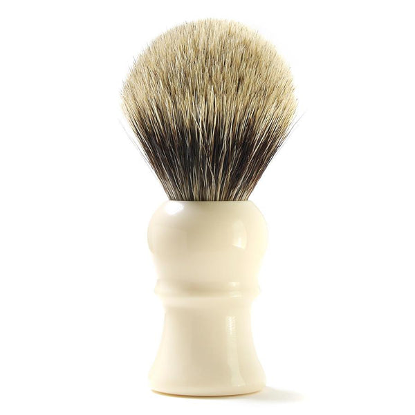 H.L. Thater for Fendrihan Best Badger Shaving Brush with Faux Ivory Handle, Size 4 - Fendrihan Canada - 1
