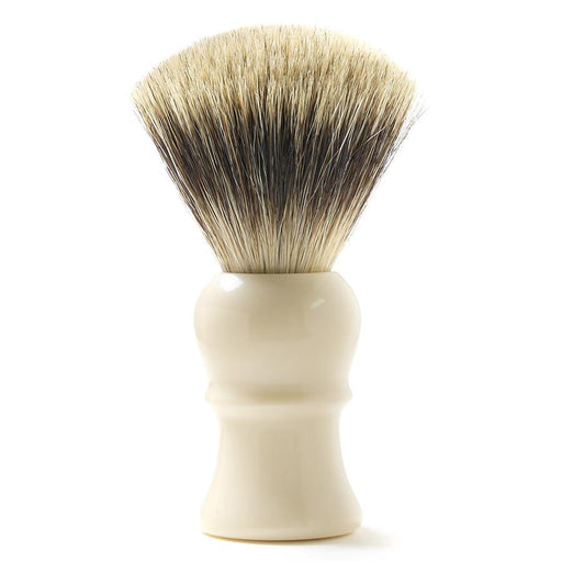 H.L. Thater for Fendrihan Fan-Shaped Best Badger Shaving Brush with Faux Ivory Handle, Size 4 - Fendrihan Canada - 1
