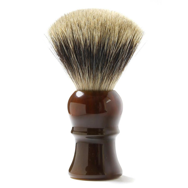H.L. Thater for Fendrihan Fan-Shaped Best Badger Shaving Brush with Faux Tortoise Handle, Size 4 - Fendrihan Canada - 1