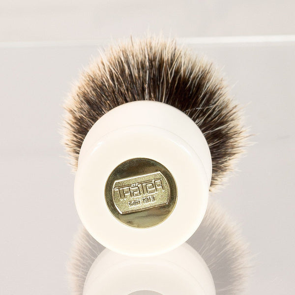 H.L. Thater 4292 Series 2-Band Silvertip Shaving Brush with Faux Ivory Handle, Size 4 - Fendrihan Canada - 2