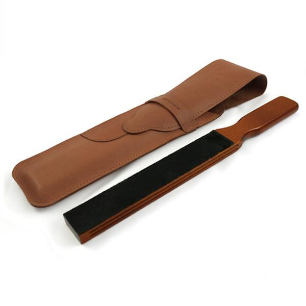 Thiers Issard Paddle Strop w Brown Baragnia Leather Case Leather Strop Thiers Issard