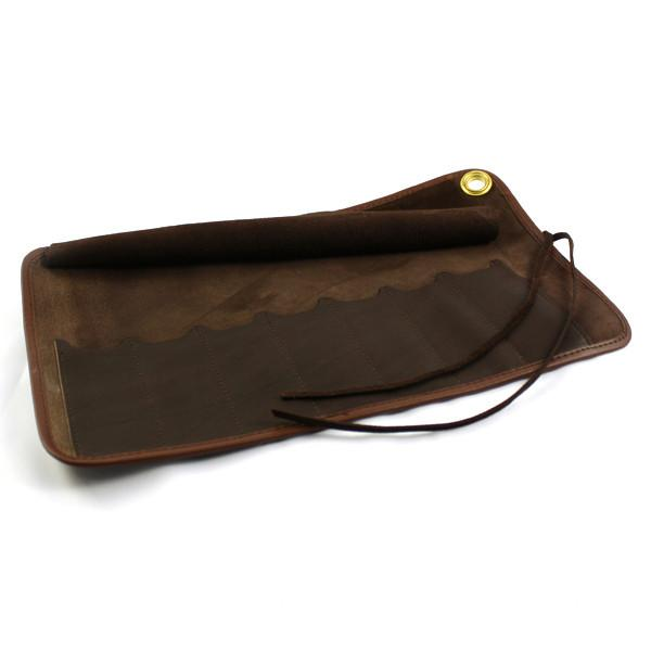 Thiers Issard Seven-Razor Brown Leather Carrying Case Razor Case Thiers Issard