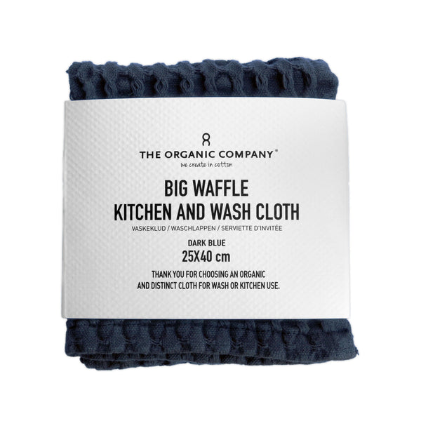 The Organic Company Big Waffle Kitchen and Wash Cloth