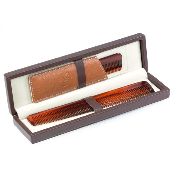The Perfect Gentleman Luxury Comb Set in Deluxe Leather Case - Fendrihan Canada - 4