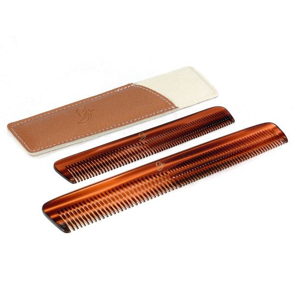 The Perfect Gentleman Luxury Comb Set in Deluxe Leather Case - Fendrihan Canada - 5