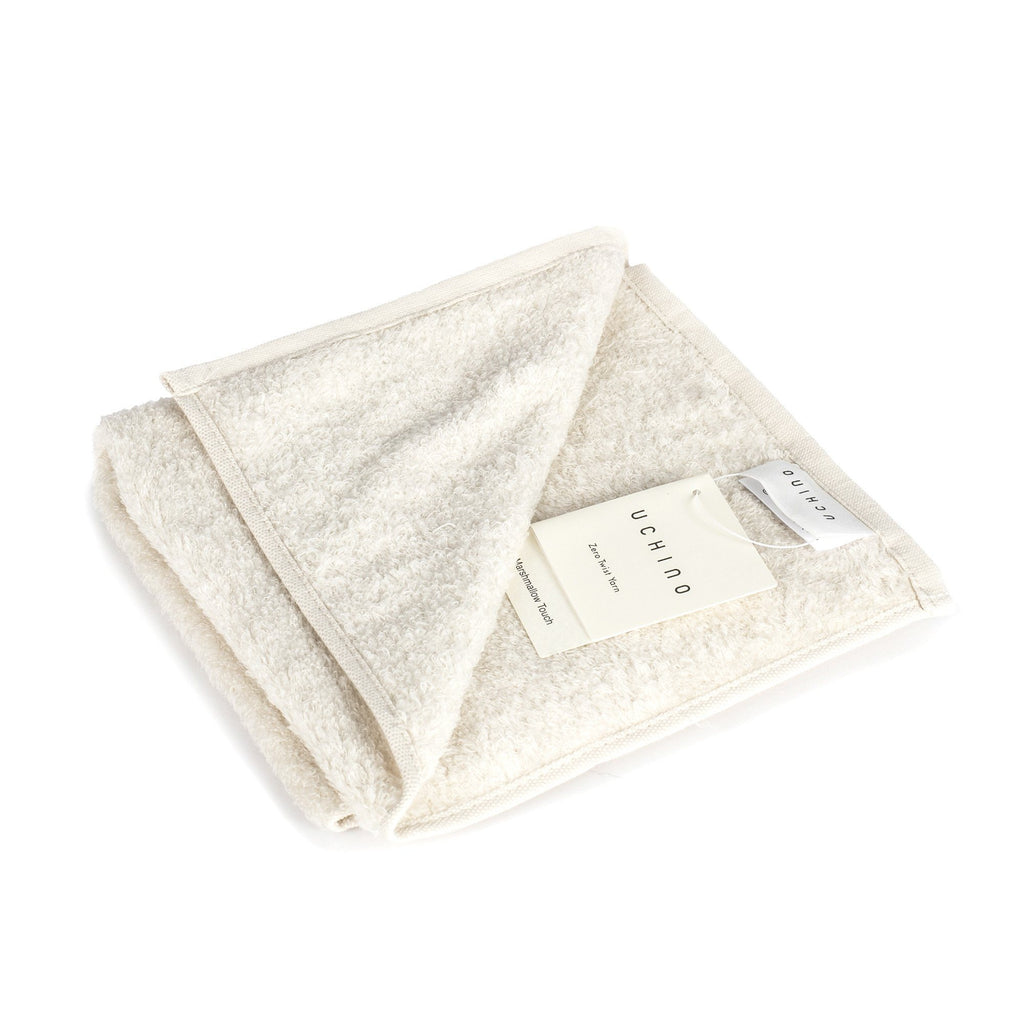 Uchino Marshmallow Plus Soft Touch Cotton Towel Towel Uchino Cream Washcloth (34 x 40 cm)