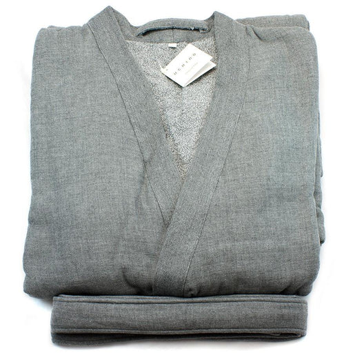 Uchino Kishu Charcoal Odour-Eliminating Cotton Gauze Bath Robe - Fendrihan Canada - 1