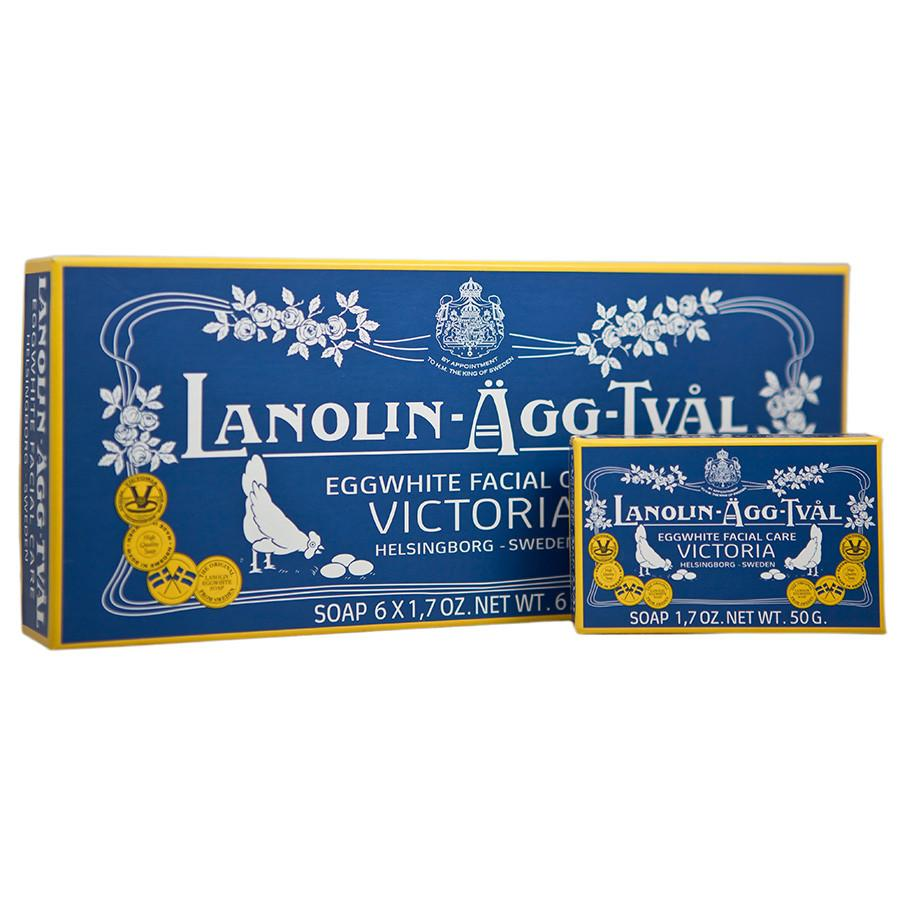 Victoria Lanolin Eggwhite Facial Care Soap 6-Pack Facial Care Other