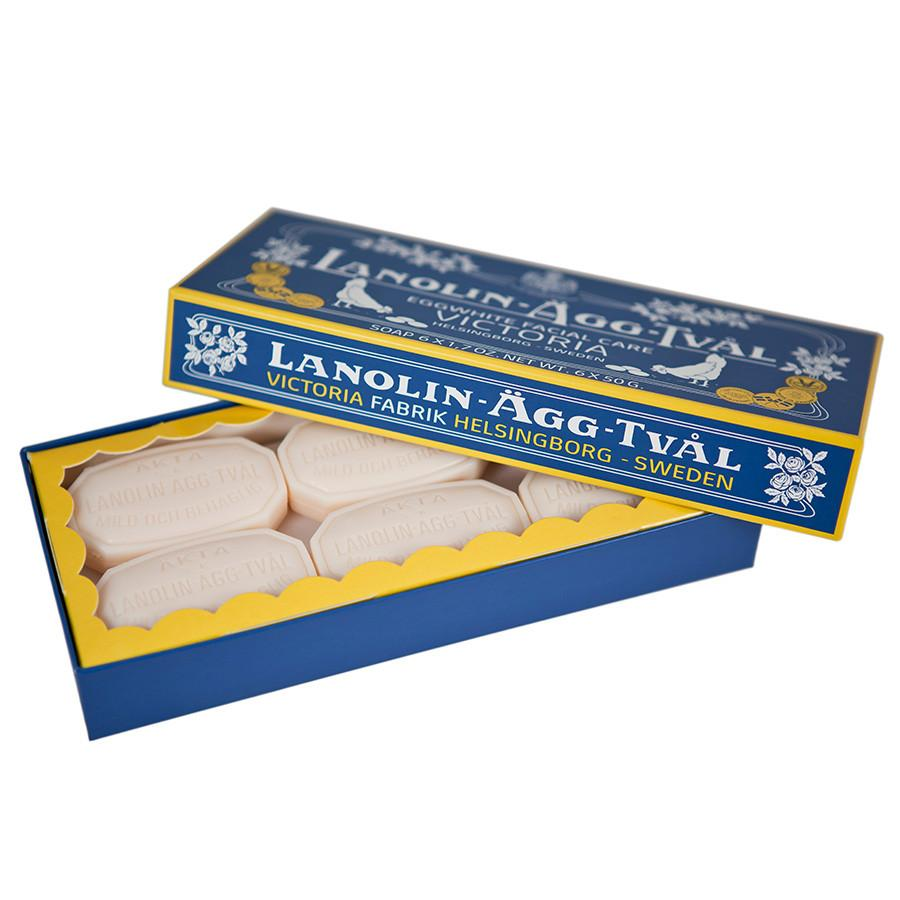 Victoria Lanolin Eggwhite Facial Care Soap 6-Pack - Fendrihan Canada - 4