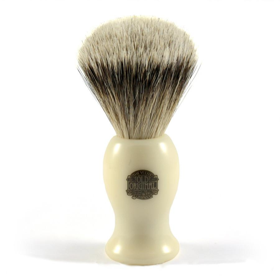 Vulfix 660S Large Super Badger Shaving Brush, Faux Ivory Handle Badger Bristles Shaving Brush Vulfix