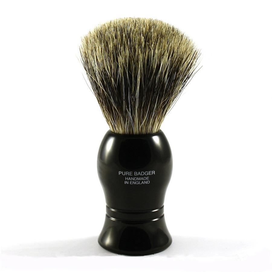 Vulfix Pure Grey Badger Shaving Brush, Black Handle Badger Bristles Shaving Brush Vulfix