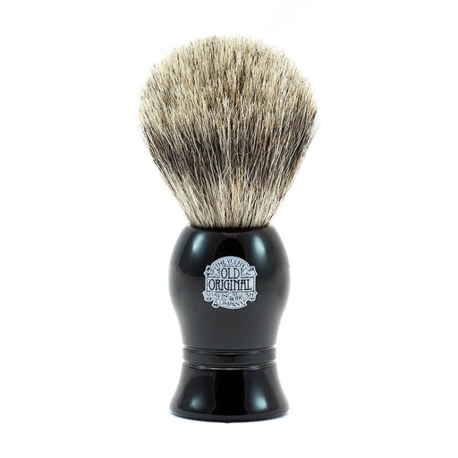 Vulfix Pure Grey Badger Shaving Brush, Black Handle - Fendrihan Canada - 1
