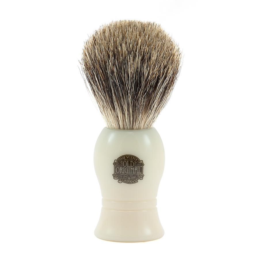 Vulfix Pure Grey Badger Shaving Brush, Faux Ivory Handle - Fendrihan Canada - 1