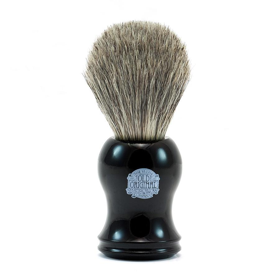Vulfix Pure Black Badger Shaving Brush, Black Handle Badger Bristles Shaving Brush Vulfix