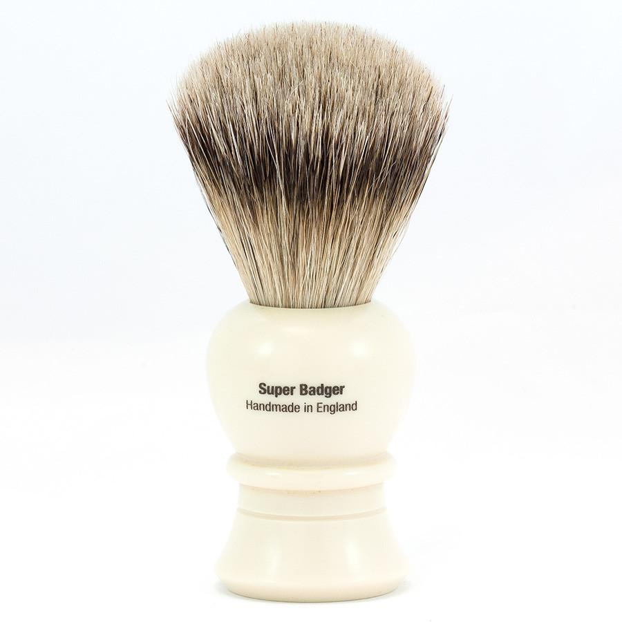 Vulfix 2234 Super Badger Shaving Brush, Faux Ivory handle Badger Bristles Shaving Brush Vulfix